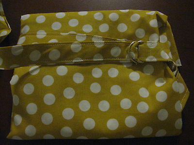 "NEW  >NURSING COVER like HOOTER hider* BREASTFEEDING  XL 42X27"" YELLOW DOTS"
