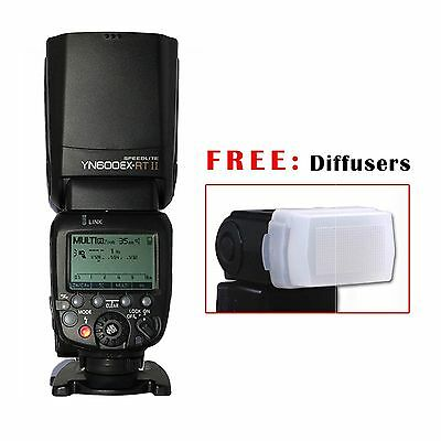 YONGNUO YN600EX-RT II Wireless Speedlite TTL Flash 1/8000s + Bounce Diffuser