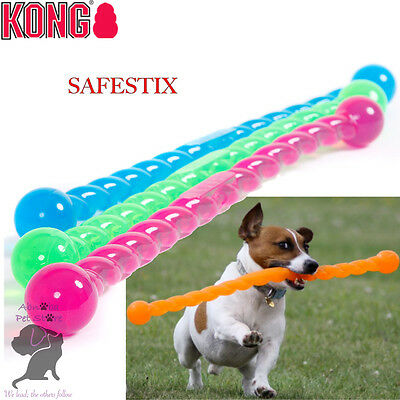 KONG SAFESTIX Bendable Flexible Throw & Fetch Dog Puppy Floating Toy LGE SML MED