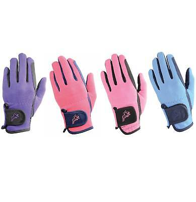 HY5 Two Tone Kids/ Children's Horse Riding Gloves- Multiple Sizes & Colours