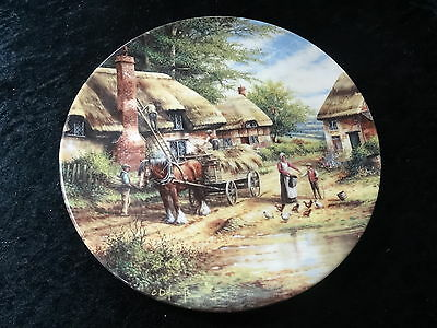 "Collectors Plate - Wedgwood Country Days Series - ""Mending the Thatch"""