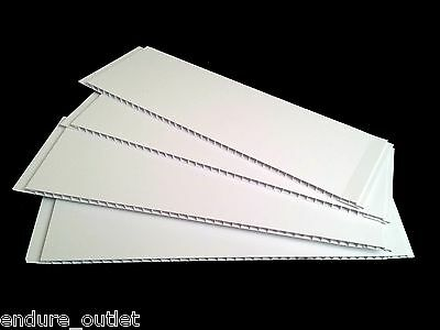 PVC CLADDING PANELS WALL KITCHEN BATHROOM SHOWER WET WALL White Gloss 5mm