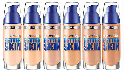 Maybelline Superstay Better Skin Foundation 30ml New **Choose Shade**