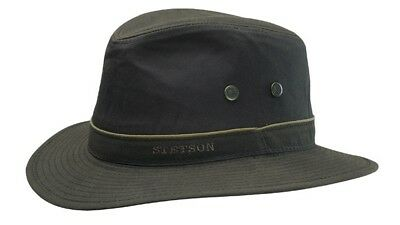 Stetson Ava Waxed Cotton Big Brimmed Hat