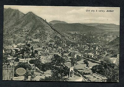 C1920's View of the Old City of Amber (Amer, Now Part of Jaipur) & Valley, India