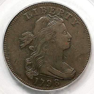 1798 S-161 R-2 PCGS VF 25 1st Hair Style Draped Bust Large Cent Coin 1c