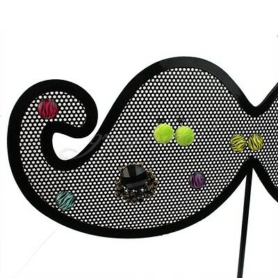 Black Metal Nets Moustache Shop Sale Jewelry Earrings Show Holder Stand Display