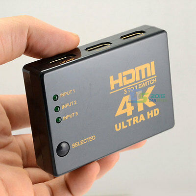 4K*2K 3in 1out HDMI Switch Hub Splitter TV Switcher Adapter Ultra HD for HDTV PC