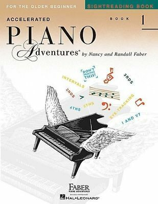 ACCELERATED PIANO ADVENTURES Sight Reading Book 1 *NEW* Music Tuition Faber