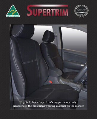 Toyota Hilux 2009-NOW Premium Neoprene Waterproof Airbag safe FRONT Seat Covers
