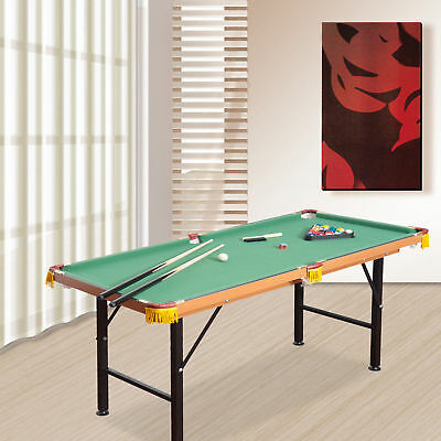 New 4.5ft Mini Table Top Pool Table Game Billiard Board Play with Balls Set cues
