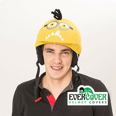 Crazy minion helmet cover is suitable for technically all kinds of sport helmets
