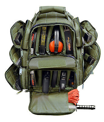 Ultimate Deluxe Tactical Pistol OD Range Backpack Polyester 600 D Heavy Duty