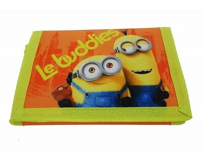 Minions | Le Buddies Childrens Tri-Fold Wallet | Purse with Coin Zip Compartment