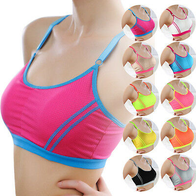 Summer Women Lady Sports Yoga Athletic Solid Wrap Chest Strap Vest Tops Bra