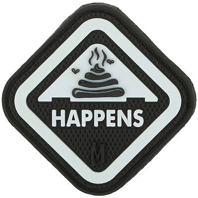 Maxpedition It Happens 3D Pvc Rubber Badge Morale Patch Glows In The Dark