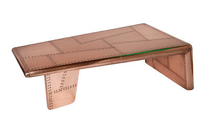 Furniture made of polished copper Coffeeetable Cochtisch aircraft
