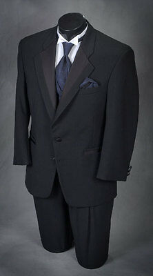 60 R 2 button Notch Tuxedo This years style tux! Light weight wool.