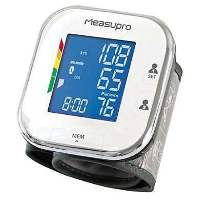 MeasuPro Portable Wrist Blood Pressure Monitor with Heart Rate Meter,