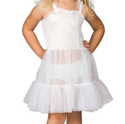Girls Full Skirt Slip Adjustable Straps Petticoat Crinoline 2T-14 Ruffles Layer