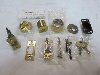 Baldwin 8045 Auxiliary Deadbolt Cylinder/Turnpiece POLISHED BRASS NEW in box!!
