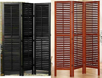 3 Panel Solid Wood Screen Room Divider Full Length Shutters