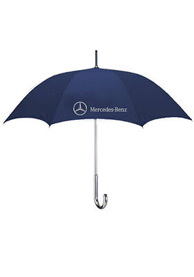 """Mercedes-Benz Fashion Style Umbrella with an 48"""" Arc and Aluminum Shaft & Handle"""
