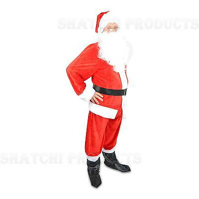 Primium Santa Claus Father Christmas Suit Fancy Dress Costume Medium