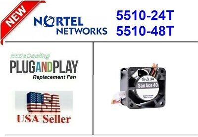 Quiet! Nortel BayStack 5510-24T Replacement Fan, Very quiet only 18dBA Noise