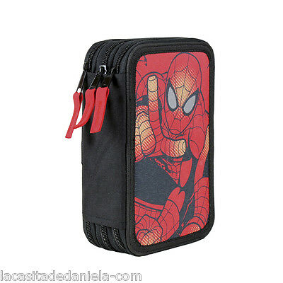 SPIDERMAN MARVEL Plumier triple - estuche 43 piezas/Pencil case
