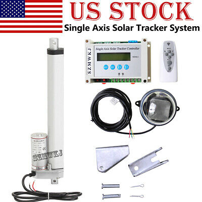 Solar Tracker Track Single Axis Complete Kit 10'' DC Linear Actuator &Controller