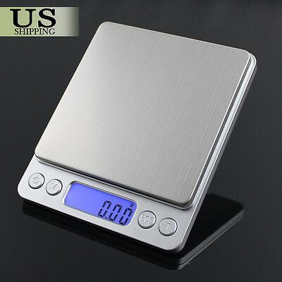 Mini Precision Digital Gram Jewelry Scale Kitchen Food Weigh Balance 3000g/0.1g