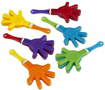 6 pcs Mini Hand Clappers Assorted Goody Pinata Party Bag Filler Favour Gift