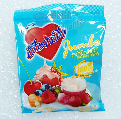 Hart Beat Jumbo Cranberry Flavoured Candy Lychee Filling Center Mixed Fruit 40g
