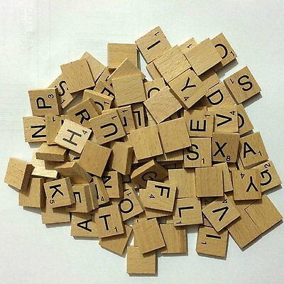 Scrabbles letter Tiles Wooden 10 100 pieces full complete set numbers Crafts