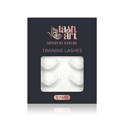 LashArt 5 Pair Training Aid Lashes for Eyelash Extension Training Mannequin Head