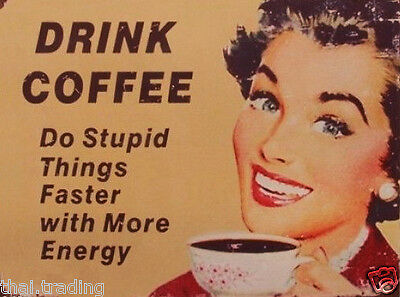 "Funny Vintage Coffee First  Photo Fridge Magnet 2""x3"" Collectibles"