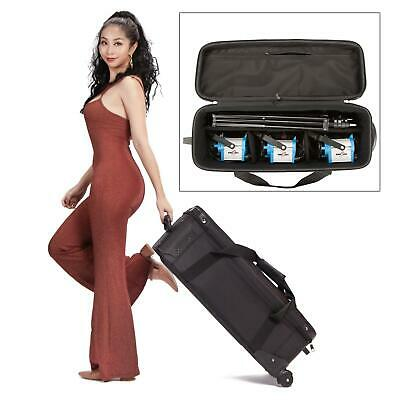 HWASTUDIO® Portable Lighting Equipment Fly Case bag with Wheels heavily padded