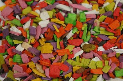 50L Wood Chip Coloured Garden Mulch Flower Bark Cork Wedding Decorative MIX