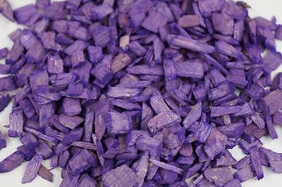 50L Wood Chip Coloured Garden Mulch Flower Bark Cork Wedding Decorative PURPLE