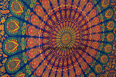 Indian Decor Mandala Tapestry Wall Hanging Hippie Throw Bohemian Twin Bedspread
