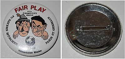 Button FC Bayern München - Paris St. Germain 23.11.94 UEFA CL FAIR PLAY