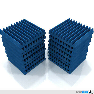 Acoustic Foam Tiles x16 (Blue) by EQ Acoustics Wedge 30 Sound Dampening Tile
