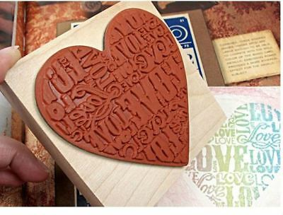Rubber Stamp Wooden Love Marker Handmade TagsCard Making