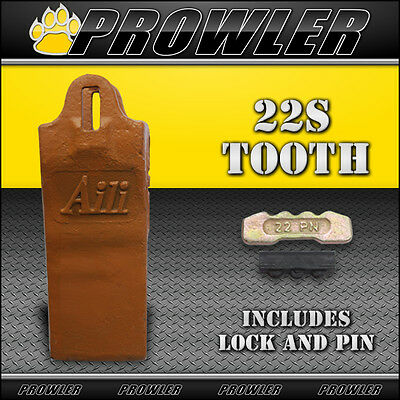 22S Esco Style Bucket Tooth with Pin and Lock - Aili Teeth, Excavator, GET