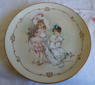 Playing Bridesmaid Plate Maud Humphrey Bogart From Little Ladies  8 1/2""