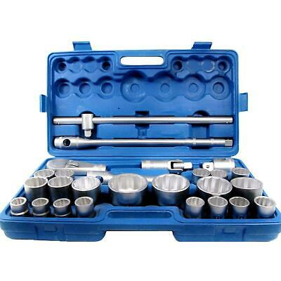 """26 Pc 3/4"""" and & 1"""" Inch Drive Ratchet Socket Extension Set 21 - 65mm Heavy Duty"""