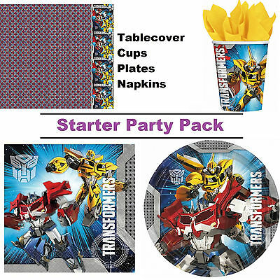 Transformers 8-48 Guest Starter Party Pack - Tablecover | Cup | Plate | Napkin