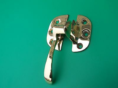 Ice Box Latch, Hardware, Left Hand Latch Cabinet Latch Solid Brass