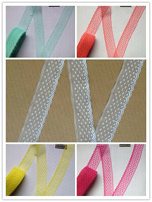 Beautiful! 10 Yard Handicrafts Embroidered Net Lace Trim Ribbon free shipping